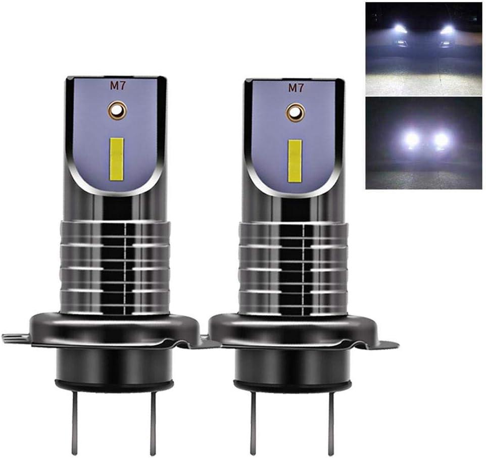 Tenlso Nueva H7 LED Faro Bombillas, Impermeable 26000LM 6000K Anti ...