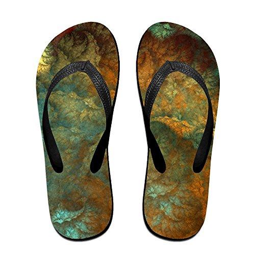 Unisex Abstracte Digitale Kunst Zomer Riem Slippers Strand Slippers Platforms Sandaal Voor Mannen Vrouwen Zwart