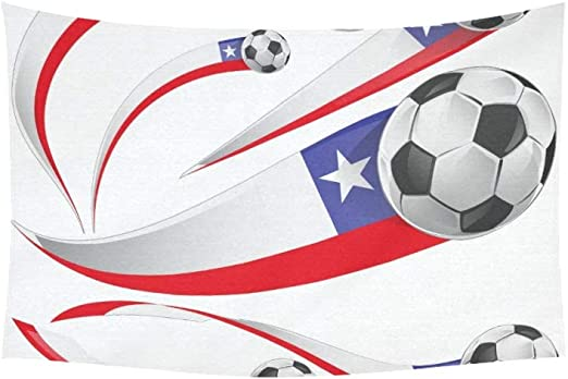 YSJXIM Tapiz Bandera de Chile Pelota de fútbol aislada en tapices ...