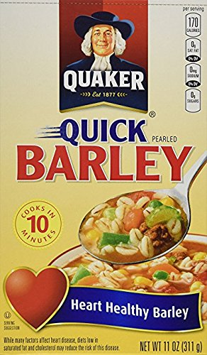 Quaker Quick Barley Heart Healthy Barley Cooks In 10 Minutes (1-BOX) ( NET WT 11 OZ)