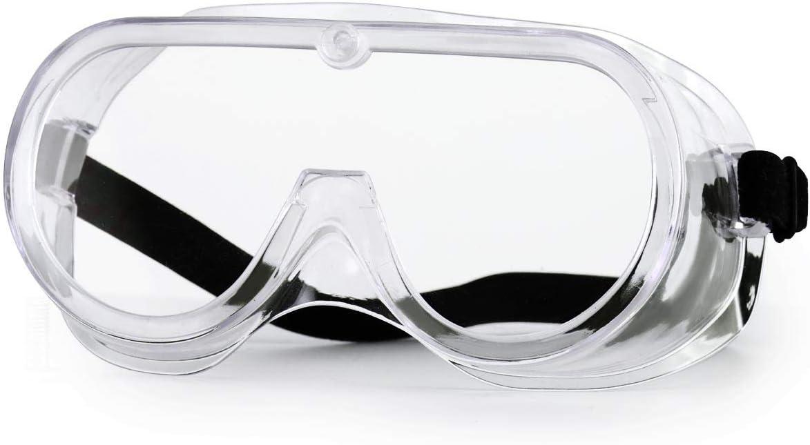 NASUM Gafas Protectoras, Gafas de Seguridad, Gafas a Prueba de Polvo, para Uso Industrial, Agrícola o de Laboratorio (1 Par)