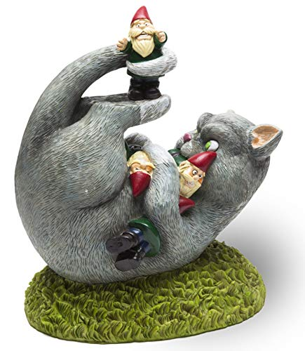 """BigMouth Inc. The Cat Garden Gnome Massacre - Funny Weatherproof Garden Decoration, Makes a Great Gag Gift - 9"""" Tall"""