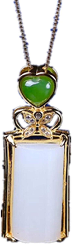 yigedan - Colgante de Oro de 24 Quilates con Incrustaciones Naturales de Jade de Oveja Qinghai, Certificado