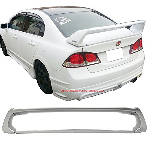 2010 Honda Silver Wing - Pre-painted Trunk Spoiler Fits 2006-2011 Honda Civic | ABS Painted #NH700M Alabaster Silver Metallic Trunk Boot Lip Spoiler Wing Deck Lid Other Color Available By IKON MOTORSPORTS | 2007
