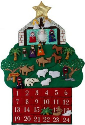 Kubla Crafts Nativity Fabric Advent -