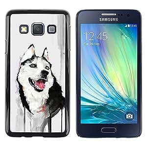 TECHCASE**Cubierta de la caja de protección la piel dura para el ** Samsung Galaxy A3 SM-A300 ** Funny Friendly Husky Painting Watercolor