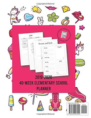 Amazon.com: 2019-2020 40-Week Elementary School Planner ...