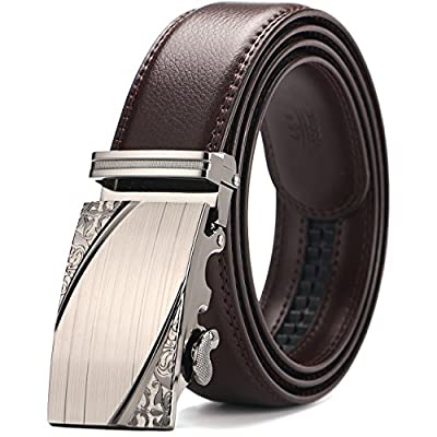 """Men's belt, Iztor Ratchet Leather Belt for men Automatic Buckle 35mm Wide 1 3/8"""" With Gift Box"""