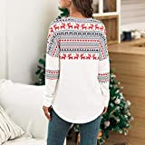 Womens Christmas Long Sleeve Patching Blouse