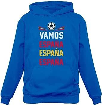 Green Turtle T-Shirts Sudadera con Capucha para Niños - Vamos España - Apoyemos a la Selección Española! 12/13A Azul: Amazon.es: Ropa y accesorios