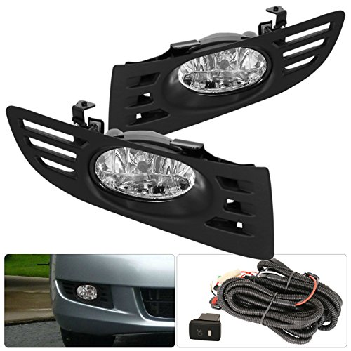 For Honda Accord Coupe 2 Door Jdm Oem Fog Light Clear Lens + Switch Wiring Kit