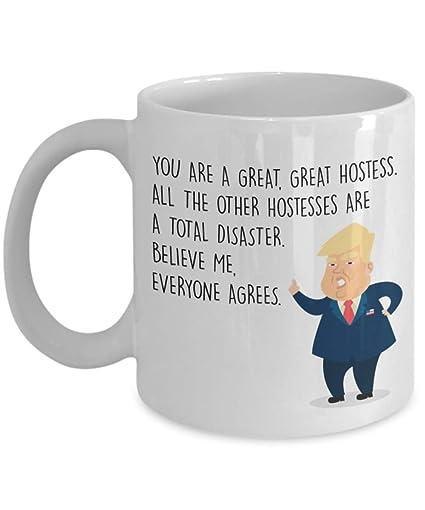 Amazon com: Funny Hostess Coffee Mug - Best Personalized Custom Name
