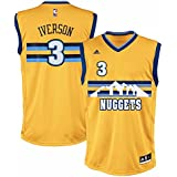 release date db454 2b1cf coupon code for allen iverson denver nuggets rainbow jersey ...