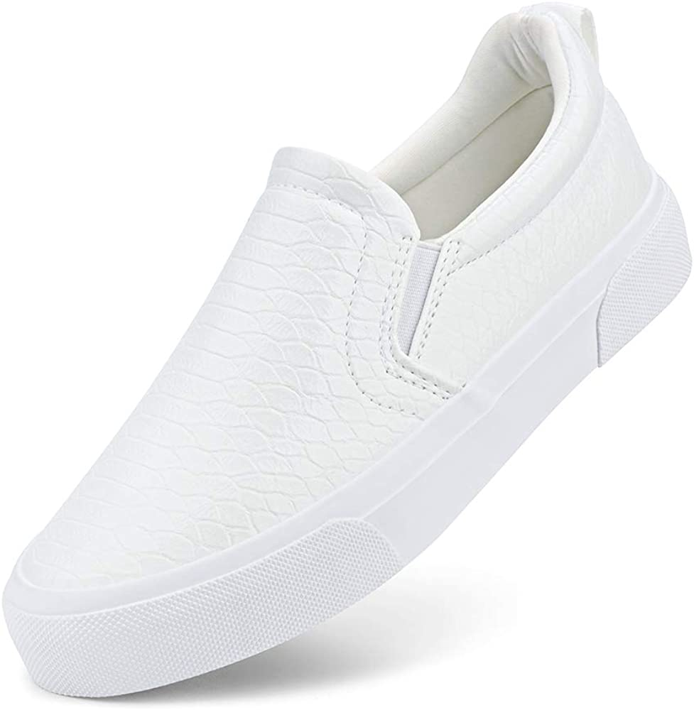 JENN ARDOR Women's Slip On Sneakers Perforated/Quilted Casual Shoes Fashion Comfortable Walking Flats