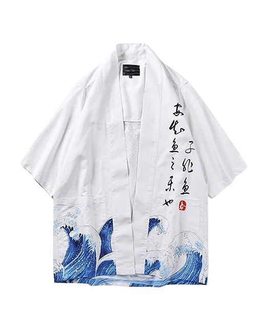 4dbc281dc Chaqueta Haori De Verano Capa Japonesa para Hombre Abrigo ...
