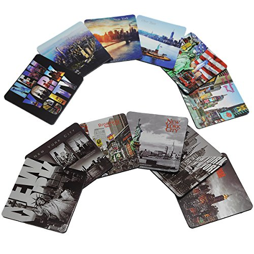 New York Color & Black / White Photo Beer and Drink Coaster NY Souvenir NYC Gift - Pack of 12