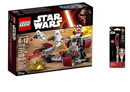 LEGO Star Wars Galactic EmpireTM Battle Pack 109PCS & Star Wars Projector Pen, Colors may vary Playsets Building (Halo Lego Falcon)