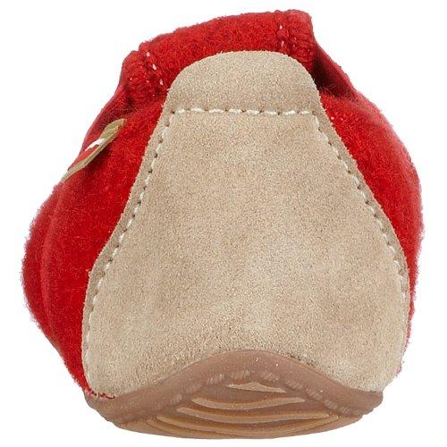 Living Kitzbühel T-Modell Unisex-Kinder Flache Hausschuhe Rot (Rot350)