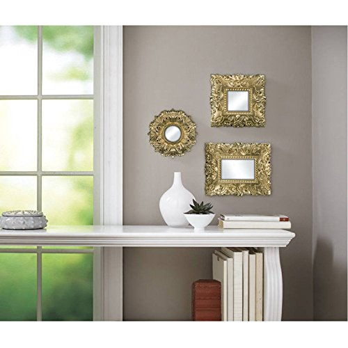 Better Homes and Gardens Set Of 3 Baroque Wall Mirrors - Gold from Better Homes & Gardens