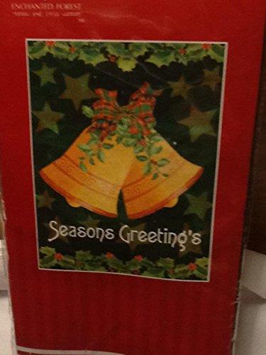 Seasons Greetings Golden Bells Porch/garden Flag
