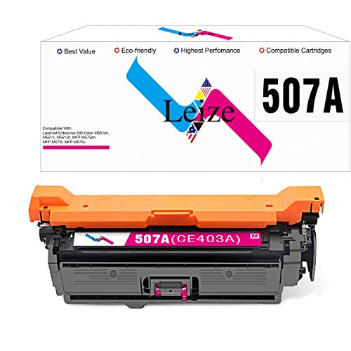 Leize Compatible Toner Cartridge Replacement for HP 507A 507X CE403A CE403X Magenta Toner Cartridge for HP Laserjet Enterprise 500 Color M551dn M551n M551xh MFP M575dn M575f M575c Printer Ink ()