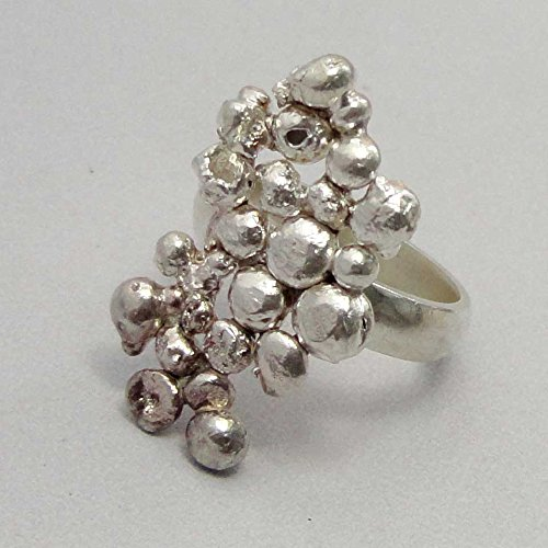 srgjewellers Sterling Silver 92.5 Ring Size 8.50 Handmade Unique Gift Jewelry India # 14066