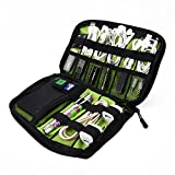 Visenta Cable Organizer Case Portable Case Easy Universal Carry Travel Organizer Bag Electronics Accessories Bag Phone Charger Case for Electronic Computer Cell Phone iPad Accessories USB Cables Power Banks Hard Disk (BlackSML)