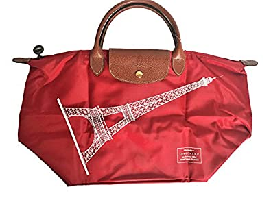 longchamp le pliage eiffel tower tote 2017 special limited edition red handbags. Black Bedroom Furniture Sets. Home Design Ideas