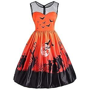 Ulanda 2018 New Women Sleeveless Vintage Halloween Christmas Evening Prom Costume Swing Dress