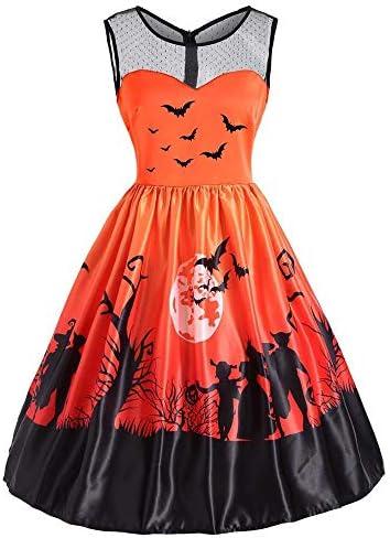 SHOBDW Mujer Víspera de Todos los Santos para Mujer de Halloween ...