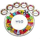 Jerusalem Hand Painted Glass Seder Plate By Yair Emanuel