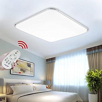 HengdaR 64W LED Deckenleuchte Dimmbar Lichtfarbe Und Helligkeit Einstellbar Wohnzimmer Schlafzimmer Modern Energie Sparen Licht