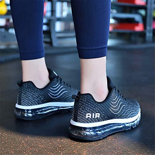 Interior Air All'aperto Casual Uomo Gym Jogging Da Corsa Donna Fitness Sneakers 44 Running Ginnastica Nero Scarpe Sportive 35 Monrinda wOgZEE