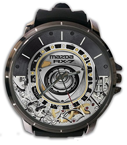 Hot New Mazda RX-7 Engine Rotary Wristwatch Sport Big Face Rubber Band