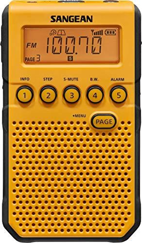 Sangean DT-800YL AM / FM / NOAA Weather Alert / Rechargeable / Alarm Clock / 45 Pre-Sets / Pocket Radio
