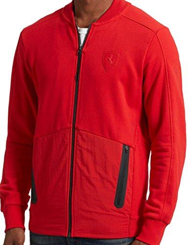 (PUMA Ferrari Sweat Jacket Rosso Corsa Size XXL)