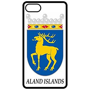 Aland Islands - Coat Of Arms Flag Emblem Black Apple Iphone 6 (4.7 Inch) Cell Phone Case - Cover