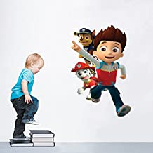 Fange DIY Removable New Paw Patrol Cartoon Dog Vinyl Waterproof Wall Stickers for Nursery and Kids Rooms 36.2''x20.8''