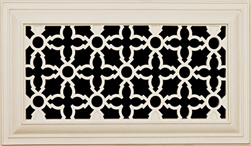 Decorative Vent Cover for a 14x8 Opening. Resin Paint Grade Grille Can Be Used As Return, Supply, Foundation Vent, Register. Heritage Decorative Design. 16x10 Overall Size