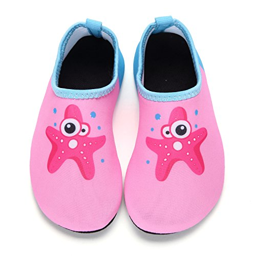 Large Product Image of DKRUCAK Kids Swim Water Shoes Baby Boys Girls Toddler Quick-Dry Barefoot Aqua Socks Shoes for Beach Pool Surfing Walking