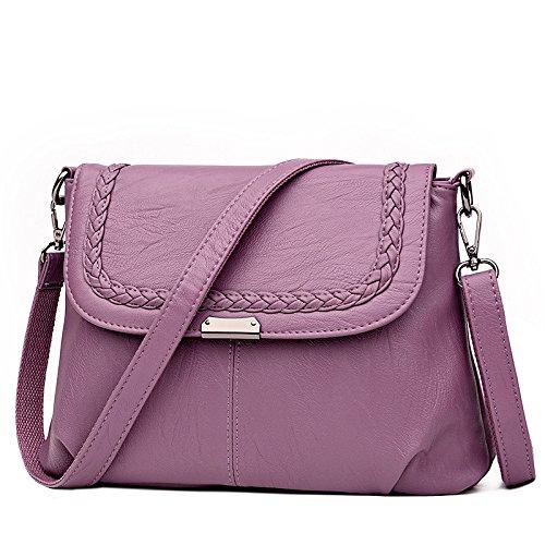 DHFUD Bolsos De Hombro De Mujer Messenger Bag Casual Fashion Classic Purple
