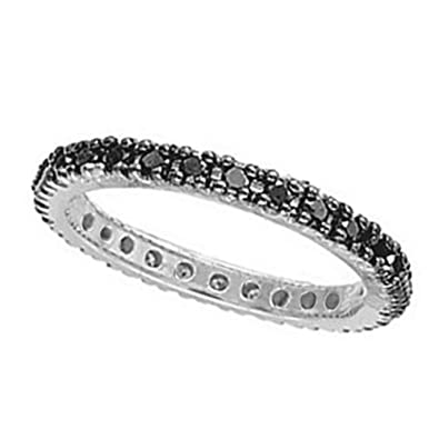 jp k band black prong audrey carat eternity diamond tw bands in gold u white