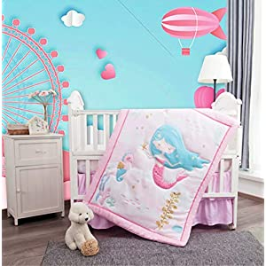 512cKhBAbML._SS300_ Mermaid Crib Bedding and Mermaid Nursery Bedding Sets