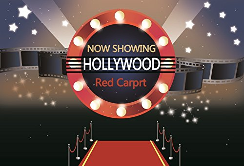 OFILA Red Carpet Backdrop 5x3ft Photography Background Hollywood Show Award Ceremony Bokeh Stars Actor Adult Photos Video Studio -