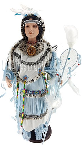ve American (Indian) Porcelain Doll - Blue Bird-D28677 ()
