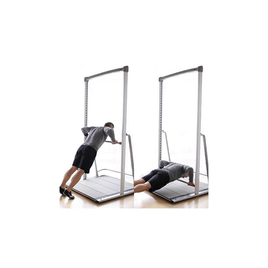 Free Standing Portable Pull up Bar Stand Alone System. Total Body Home Gym Personal Training System (Bundle1)