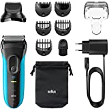 Braun Series 7 Wetdry - NEW! Braun Series 3 3-in-1 Shave and Style Wet and Dry Waterproof Cordless Rechargeable Electric Foil Men's Facial Hair and Beard 8-Piece Grooming Trimmer Shaver Kit with Charger and Pouch