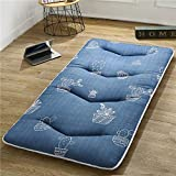 GJFLife Dormitory Mattress Floor Tatami Protector Futon, Collapsible Polyester Mattress Topper Breathable Bed mats Sleeping pad-B 120x200x5cm
