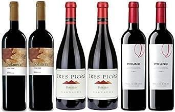 Pack Mejores Vinos Españoles Value según Parker 6 botellas. 2 de Borsao Tres Picos, 2 de Purno y 2 de Solanera: Amazon.es: Alimentación y bebidas