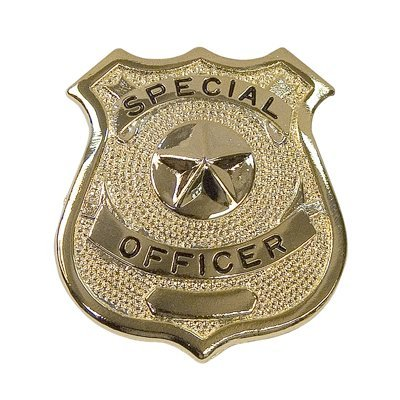 [Rothco SPECIAL OFFICER Gold Badge, Gold, O/S] (Odd Squad Costume)